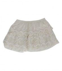 Молочная гипюровая юбка Zara 8071