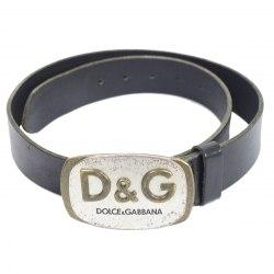 Черный ремень с логотипом D&G Dolce&Gabbana 8434