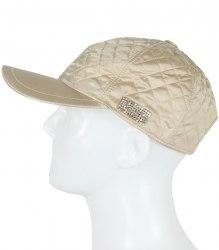 Бежевая стеганная кепка Via Delle Perle 8998