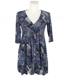 Трикотажное платье-баллон с длинным рукавом Sirius 9693