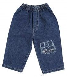Синие джинсы с вышитым карманом Popolin 10016