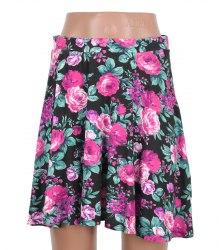 Трикотажная юбка полусолнце с принтом розы Young Dimension (Primark) 10314