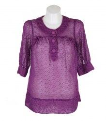 Фиолетовая полупрозрачная блуза French Connection 10908