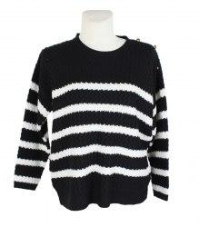 Вязаный ажурный пуловер в полоску Next 11213