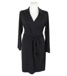 Черное трикотажное платье с запахом Variations 11378