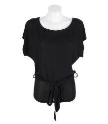 Черная трикотажная кофта с широким поясом Gloria Jeans 11427