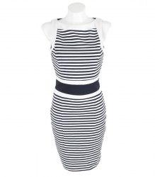 Трикотажное платье в полоску INCITY 11428