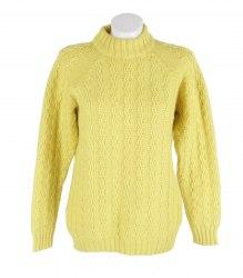 Вязаный желтый реглан Pure Wool 11450