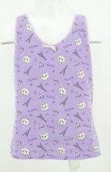 Фиолетовая маечка с принтом котят Mix 2632