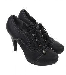 Черные туфли на каблуке ShiLin 11550