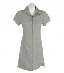 Оливковое платье на кнопках Columbia 11601
