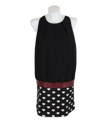 Комбинированное черное платье без рукавов Zeza Fashion 11603