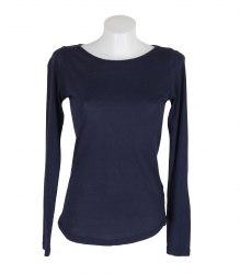 Синяя футболка с длинным рукавом New Look 11773