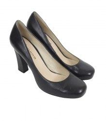 Черные туфли с круглым носком Flora collection 11906