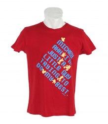 Красная футболка с коротким рукавом Disney 12025