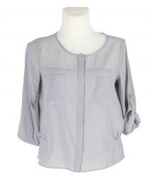 Серая шифоновая блуза DKNY 12162