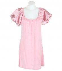 Розовая удлиненная футболка With Love 12164