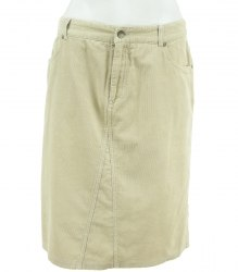 Бежевая юбка из ткани вельветон Papaya 2794