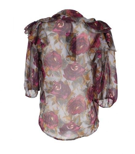 Шифоновая блуза с принтом розы Oshun 12377