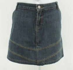 Джинсовая юбка-мини с отстрочкой зиг-заг Madoc 2811