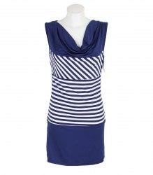 Трикотажное платье в полоску с якорем Dress Code 12480