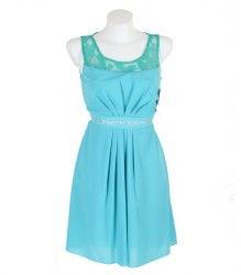 Бирюзовое платье из креп-шифона Arjen 12481