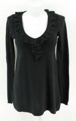 Короткое трикотажное платье декорированное оборкой Zara 2846