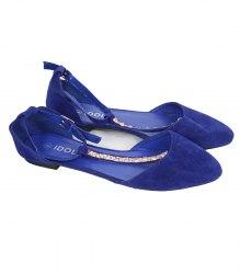 Синие замшевые балетки Idol 12562