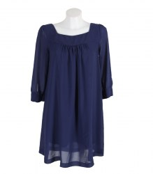Синее шифоновое платье свободного кроя H&M 12724