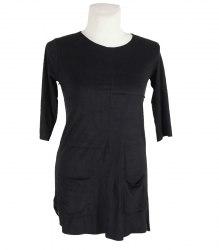Черное платье из спандекса с необработанными краями Dazzling 12726