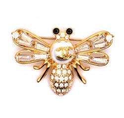 Брошь Пчела циркон b-195