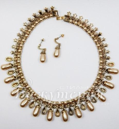 Комплект 18К золото с цирконом kt-007