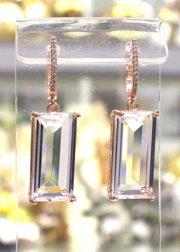Серьги Позолота Кристалл s-022