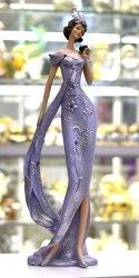 Статуэтка Леди с цветком art.10244