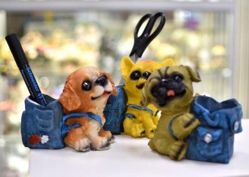 Статуэтка Собачка с рюкзаком art.10154
