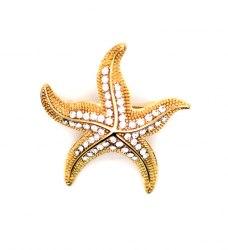 Брошь Звезда морская b-058