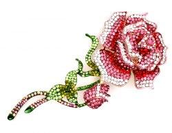 Брошь Роза бол. b-185