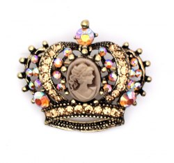 Брошь Корона с камеей b-063