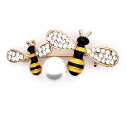 Брошь Пчелки b-098