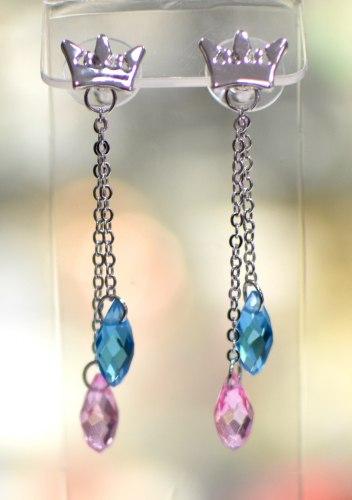 Серьги с кристаллами s-088
