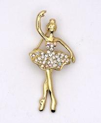 Брошь Балерина b-039