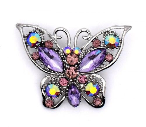 Брошь Бабочка фиолетовая b-196