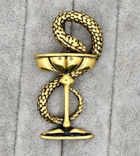 Брошь Чаша со змеей b-019