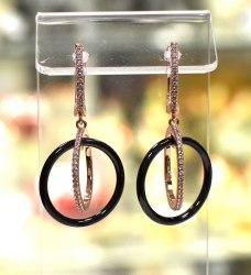 Серьги Керамика кольца s-206