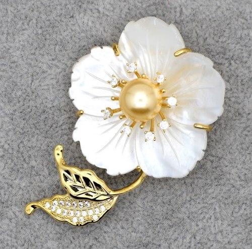 Брошь Цветок b-081