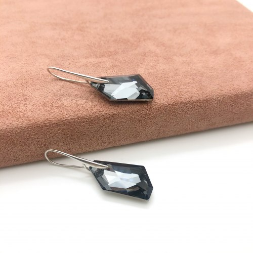 Серьги с кристаллом 2 S-0019