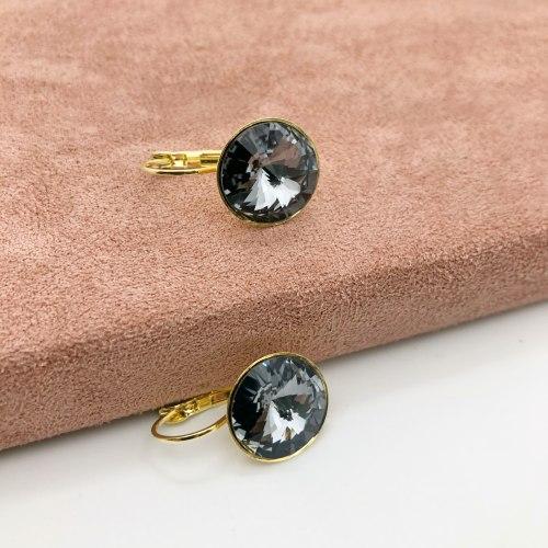 Серьги с кристаллом 14 S-0043