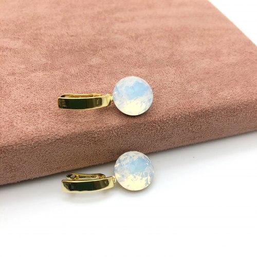 Серьги с кристаллом 17 S-0046
