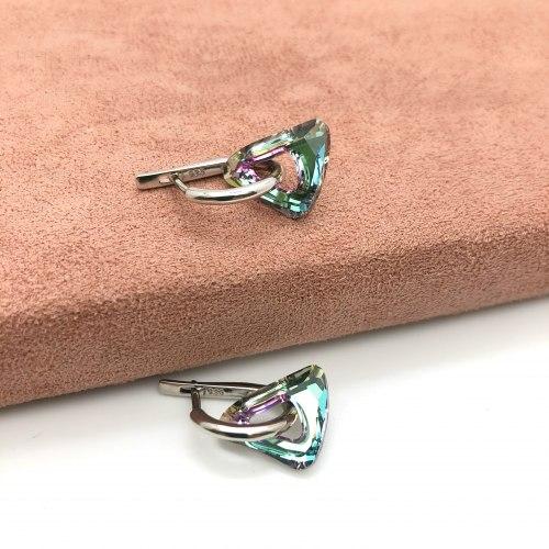Серьги с кристаллом 26 S-0055