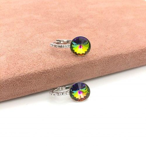 Серьги с кристаллом 30 S-0059